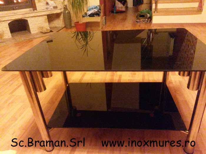 Masuta din Inox Cu sticla 02