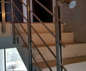 Balustrada inox lemn Corunca