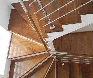 Balustrada Inox combinat cu lemn si trepte Fag Reghin 10.05.2018