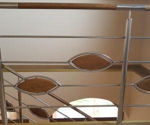 Balustrada de inox si trepte din lemn de stejar Toplita 09.07.2018