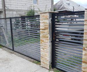 Gard din fier cu lamele comuna Ieud, Maramures 2018