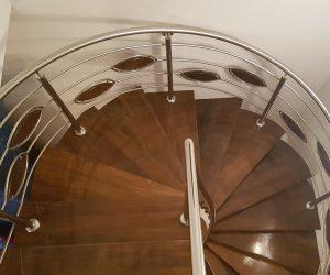 Trepte din lemn si balustrada din inox Cristesti Mures 07.01.2019