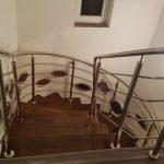 Trepte din lemn balustrada din inox Cristesti Mures 07.01.2019