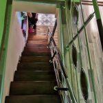 Scara din inox cu trepte din fag Mihesu de Campie 05.2019
