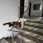 Balustrada din inox combinata cu lemn voiniceni 2019