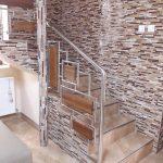 Balustrada din inox combinata cu lemn Sarmas