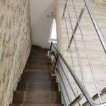 Scara pe 2 vanguri trepte din lemn tarnaveni 2021