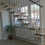 Scara din fier cu balustrada din fier cu lamele pe verticala Sancraiu de Mures 12.03.2021