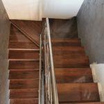 balustrada inox +Trepte din lemn masiv Salulia 2021